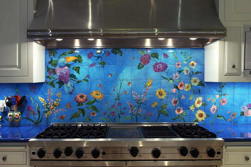 Custom tile installations by ileya stewart for Custom photo tile mural